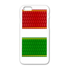 Christmas Banners Clipart Apple Iphone 6/6s White Enamel Case