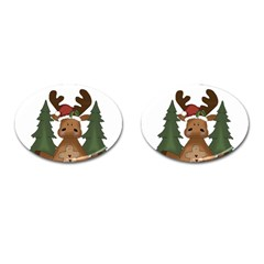 Christmas Moose Cufflinks (oval) by Sapixe