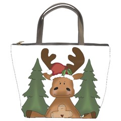 Christmas Moose Bucket Bags
