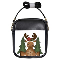 Christmas Moose Girls Sling Bags