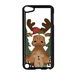 Christmas Moose Apple Ipod Touch 5 Case (black)
