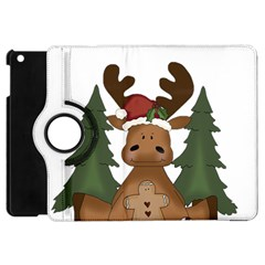 Christmas Moose Apple Ipad Mini Flip 360 Case by Sapixe
