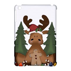 Christmas Moose Apple Ipad Mini Hardshell Case (compatible With Smart Cover)
