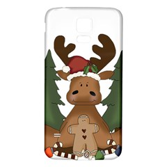 Christmas Moose Samsung Galaxy S5 Back Case (white)
