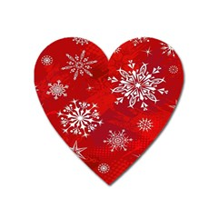 Christmas Pattern Heart Magnet by Sapixe