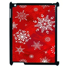 Christmas Pattern Apple Ipad 2 Case (black) by Sapixe