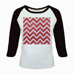 Chevron9 White Marble & Red Glitter Kids Baseball Jerseys
