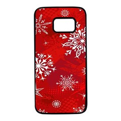 Christmas Pattern Samsung Galaxy S7 Black Seamless Case by Sapixe