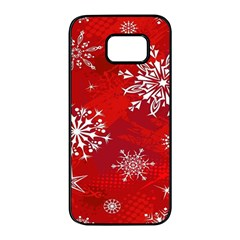 Christmas Pattern Samsung Galaxy S7 Edge Black Seamless Case