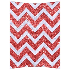 Chevron9 White Marble & Red Glitter Back Support Cushion by trendistuff
