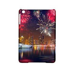 Christmas Night In Dubai Holidays City Skyscrapers At Night The Sky Fireworks Uae Ipad Mini 2 Hardshell Cases by Sapixe