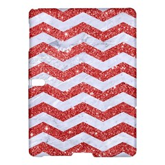 Chevron3 White Marble & Red Glitter Samsung Galaxy Tab S (10 5 ) Hardshell Case