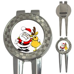 Christmas Santa Claus 3 In 1 Golf Divots by Sapixe