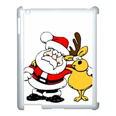 Christmas Santa Claus Apple Ipad 3/4 Case (white) by Sapixe