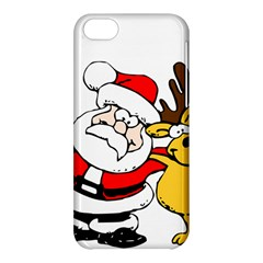 Christmas Santa Claus Apple Iphone 5c Hardshell Case by Sapixe