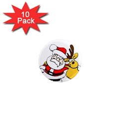 Christmas Santa Claus 1  Mini Magnet (10 Pack)