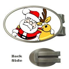Christmas Santa Claus Money Clips (oval)  by Sapixe