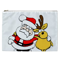 Christmas Santa Claus Cosmetic Bag (xxl)  by Sapixe