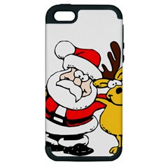 Christmas Santa Claus Apple Iphone 5 Hardshell Case (pc+silicone)