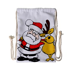 Christmas Santa Claus Drawstring Bag (small)
