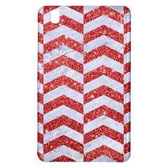 Chevron2 White Marble & Red Glitter Samsung Galaxy Tab Pro 8 4 Hardshell Case