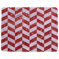Chevron1 White Marble & Red Glitter Jigsaw Puzzle Photo Stand (rectangular) by trendistuff