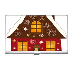 Christmas House Clipart Business Card Holders