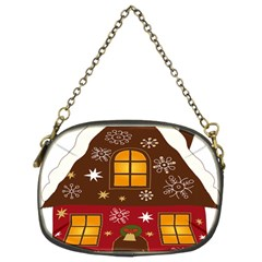 Christmas House Clipart Chain Purses (two Sides)