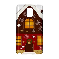 Christmas House Clipart Samsung Galaxy Note 4 Hardshell Case