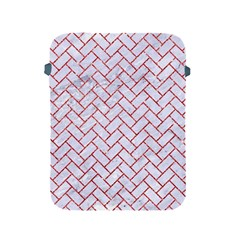 Brick2 White Marble & Red Glitter (r) Apple Ipad 2/3/4 Protective Soft Cases by trendistuff
