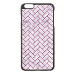 BRICK2 WHITE MARBLE & RED GLITTER (R) Apple iPhone 6 Plus/6S Plus Black Enamel Case Front