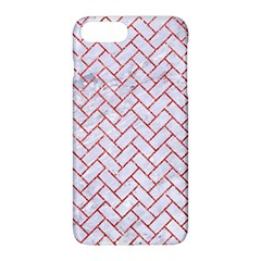 Brick2 White Marble & Red Glitter (r) Apple Iphone 8 Plus Hardshell Case by trendistuff