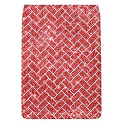 Brick2 White Marble & Red Glitter Flap Covers (l)  by trendistuff