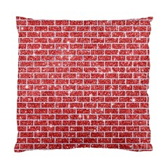 Brick1 White Marble & Red Glitter Standard Cushion Case (one Side) by trendistuff