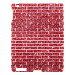 Brick1 White Marble & Red Glitter Apple Ipad 3/4 Hardshell Case by trendistuff