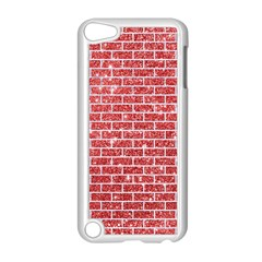 Brick1 White Marble & Red Glitter Apple Ipod Touch 5 Case (white) by trendistuff