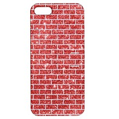 Brick1 White Marble & Red Glitter Apple Iphone 5 Hardshell Case With Stand by trendistuff