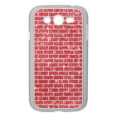 Brick1 White Marble & Red Glitter Samsung Galaxy Grand Duos I9082 Case (white) by trendistuff