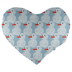 Christmas Wrapping Papers Large 19  Premium Flano Heart Shape Cushions