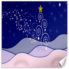 Christmas Tree Canvas 16  X 16   by Sapixe