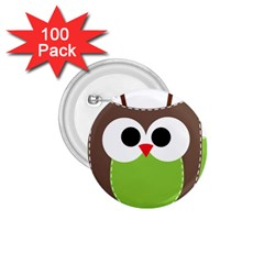 Clip Art Animals Owl 1 75  Buttons (100 Pack)  by Sapixe