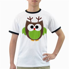 Clip Art Animals Owl Ringer T-shirts by Sapixe
