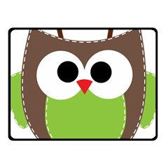 Clip Art Animals Owl Fleece Blanket (small)
