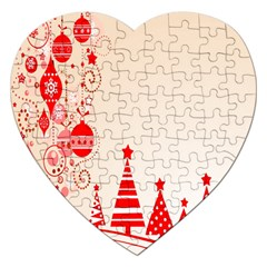Christmas Clipart Wallpaper Jigsaw Puzzle (heart) by Sapixe