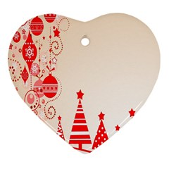 Christmas Clipart Wallpaper Heart Ornament (two Sides) by Sapixe