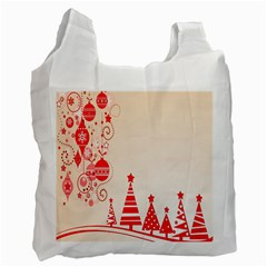 Christmas Clipart Wallpaper Recycle Bag (two Side)