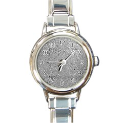Abstract Flowing And Moving Liquid Metal Round Italian Charm Watch