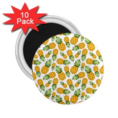 Pineapple Pattern 2 25  Magnets (10 Pack)  by goljakoff