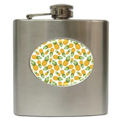 Pineapple Pattern Hip Flask (6 Oz) by goljakoff