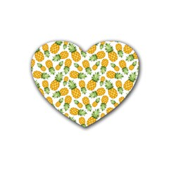 Pineapple Pattern Heart Coaster (4 Pack)  by goljakoff